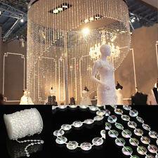 10M DIY Bead Garland Diamond Acrylic Clear Crystal Curtain Wedding Party Decor X