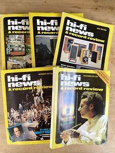 Vintage  Hi -Fi News and Record Review magazine 1975, Total 5pcs