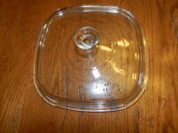 "Pyrex A-12-C Clear Glass Replacement Domed Lid 10.5""  Corning Ware"