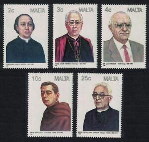Malta Maltese Personalities 5v 1988 MNH SG#819-823
