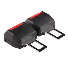 2 Pcs Universal Car Safety Seat Belt Clip Plug Buckle Extension Alarm Stopper