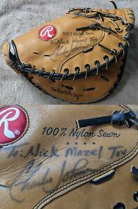 Rawlings RMP12SC Catchers Mitt Glove Baseball RHT Signed Charles Johnson Orioles