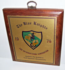 1976 The Blue Knights 2nd International Convention Plaque Jug End S. Egremont MA