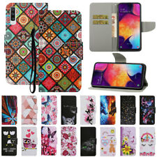 For Samsung A20E A30 A40 A50 A70 Magnetic Pattern Leather Flip Wallet Case Cover
