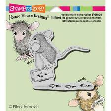 """House Mouse """"Making Prints"""" Rubber Cling Stamp!!"""