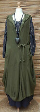 "LAGENLOOK 100%COTTON OVERSIZE HOODED CARDIGAN*GREEN*BUST UP TO 54""OSFA L-XL-XXL"