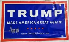 New ListingDonald Trump Autographed Signed Campaign Sign. Beckett Certified Autograph