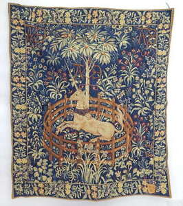 J Pansu Point Des Meurins Jacquard French Moyen Cluny Captive Unicorne Tapestry