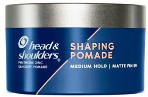 Head & Shoulders Anti-Dandruff Shaping Pomade for Men, Medium Hold, Matte Finish