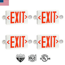 24pcs Ul Listed Emergency Light Red Led Exit Sign Dual Lamp Abs Fire Resistance