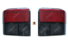 VW Transporter T4 Smoked Red Rear Back Tail Light Lamp Pair Left & Right 90-03