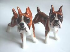 * SALES - Lots 2 Blue Witch Handmade Ceramic Boxer Dogs Salt and Pepper Shaker *