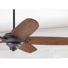 """68"""" Large HandCarved Wooden Ceiling Fan Remote Industrial Farmhouse Rustic Cabin"""