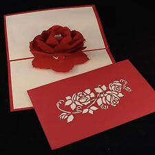POP UP 3D card - beautiful rose (thank you, blank, Mother's Day)
