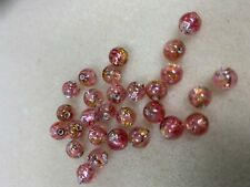 Beads Lamp Beads 6MM Silver Foil Pink Glass lamp beads 20 pcs