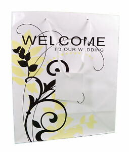 """Wedding Guest Favor Gift Bags """"Welcome to our Wedding"""" Lot of 12"""