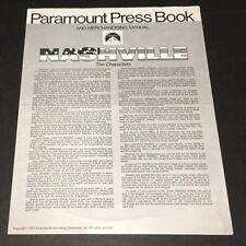 NASHVILLE (1975) ROBERT ALTMAN CLASSIC PRESSBOOK ~ XF NO CUTS!