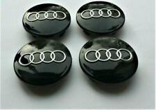 4pcs 60mm Black ALLOY WHEEL CENTRE HUB CAPS Fits AUDI A3 A4 A6 Q7 S6 S4
