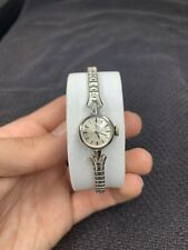 Vintage 1973 Ladies Omega Watch 14k White Gold Filled