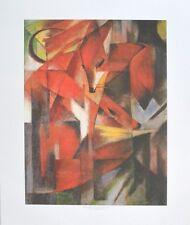 Franz Marc Füchse Poster Bild Kunstdruck 59x48cm - Kostenloser Versand