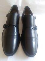 Florsheim Men's Dress Shoes Black Leather Double Monk Strap Loafers Size 12