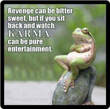Funny Frog Karma Refrigerator Magnet