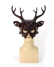 Deer Antlers Masquerade Costume Mask Illuminati True Detective Red Wall Art
