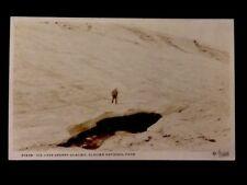 RPPC c1917 Glacier National Park, Ice Cave Sperry Glacier Real Photo Postcard