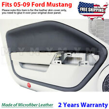 Fits 2005-2009 Ford Mustang Leather Door Panel Insert Cards 2pcs Black