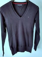 Tommy Hilfiger Kids Children Navy Blue V Neck Long Sleeve Top Sweater Size S
