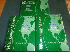 2008 FORD MUSTANG SHOP MANUAL SET / ORIGINAL SHOP & WIRING BOOKS