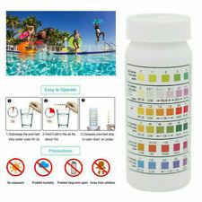 50PC Swimming Pool SPA 6 In1 Test Strips Chlorine pH Alkalinity Water Hardness