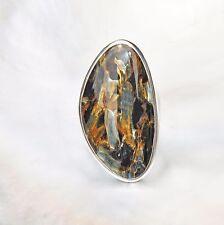 Pietersit Ring, 925er Silber, Edelsteinring (21467), Edelsteinschmuck
