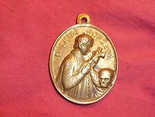 ancienne grande médaille religieuse SAINT LOUIS GONZAGUE SAN LUIGI GONZAGA 45X34