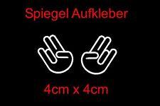 2x The Shocker Hand Auto Spiegel Aufkleber Sticker Tuning Decal Stickerbomb vw