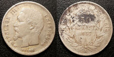 Napoléon III - 50 centimes tête nue argent 1857 A, Paris - F.187/8