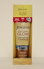 JERGENS Natural Glow Firming Daily Moisturizer MEDIUM To TAN 7.5oz BONUS SCHICK