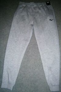 Men's Track Pants by Everlast Large in Size Light Grey with Black Branding BNWT