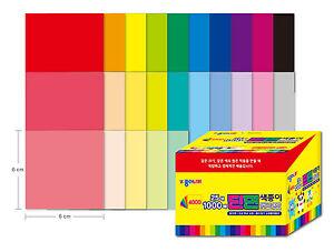 Jong Ie Nara Single Sided Colored Paper Origami 6x6  1,000 Sheets/Korea Original