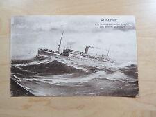 Postcard Schip Ship Sibajak Cie Rotterdamsche Lloyd In Storm Weather Unused