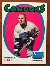 1971/72 Topps Hockey Card #109 Murray Hall Vancouver Canucks EX+