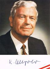 "Austria Minister Kurt Steyrer 1920-2007 genuine autograph 4""x6"" photo signed"