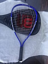 Wilson Racquetball Crushing Power Channel Titanium Blue Silver Xpress Racket