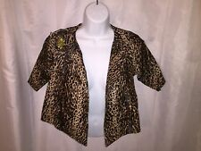 Nwot Designer Original Size Medium Hand Painted exotic cat print Hide jacket