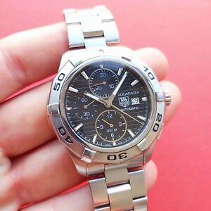Tag Heuer Aquaracer Chronograph Watch black dial 42mm CAP2110 Mens diver