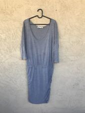 Soft Joie Size Medium Grey Solid Short Sleeve Fitted Bottom Modal Dress