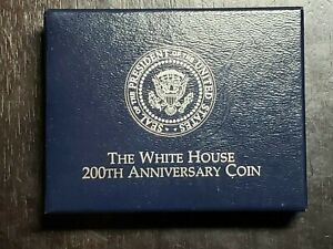 1992 D UNC White House 200th Anniversary Silver Dollar with Box/COA - US Coins