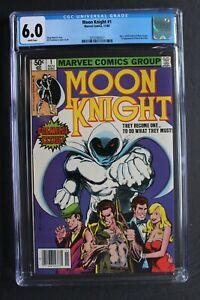 MOON KNIGHT #1 ORIGIN 1st SOLO & BUSHMAN 1980 Sienkiewicz Disney MCU TV CGC 6.0