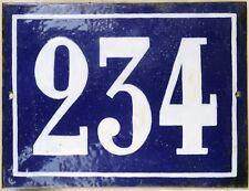 Large old French house number 234 door gate plate plaque enamel steel metal sign