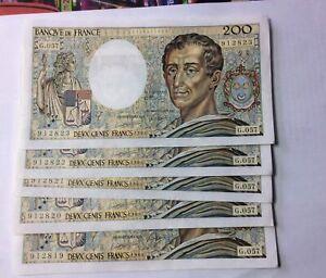 Suite 5 Billets 200 F Montesquieu